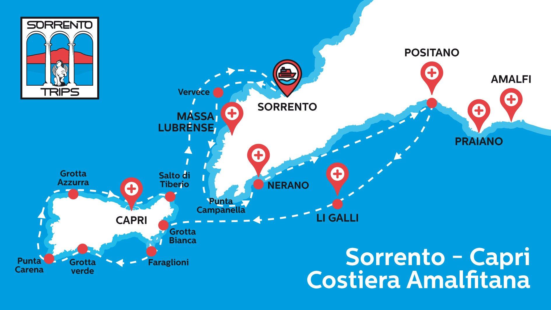 Tour in barca per Capri Positano e Amalfi