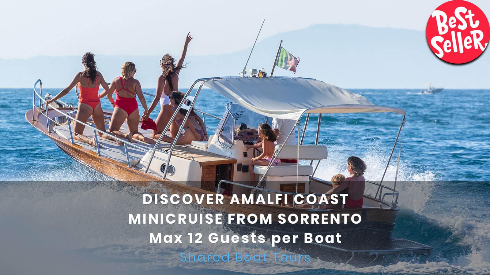 Amalfi Coast boat tour 12 pax