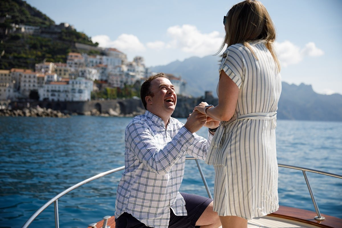 Marriage Proposal Sorrento Capri Boat