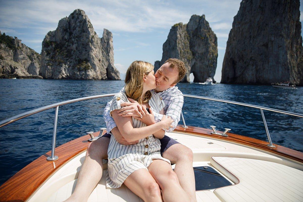 Marriage Proposal Sorrento Capri Boat