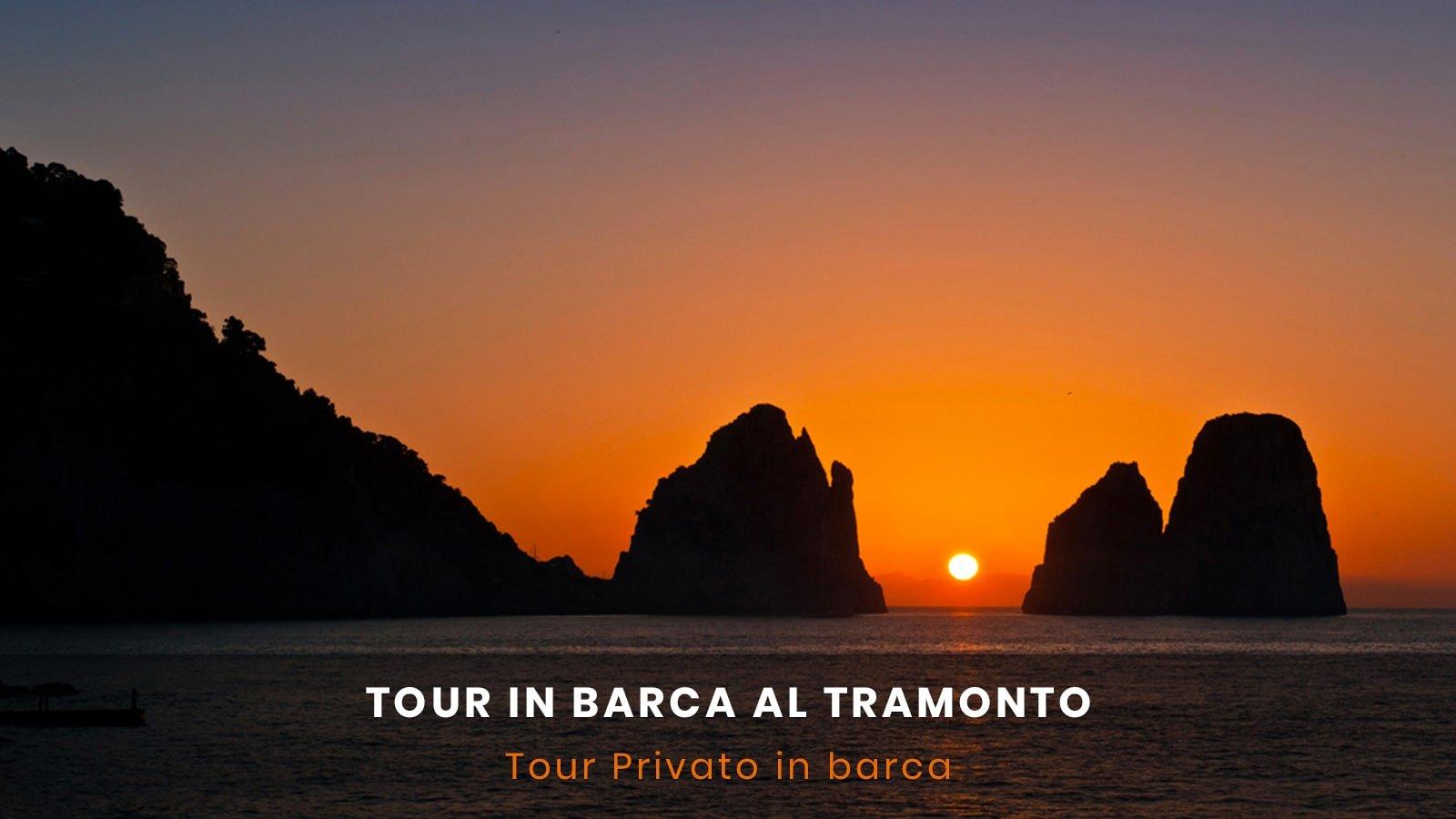 Tour in barca al tramonto