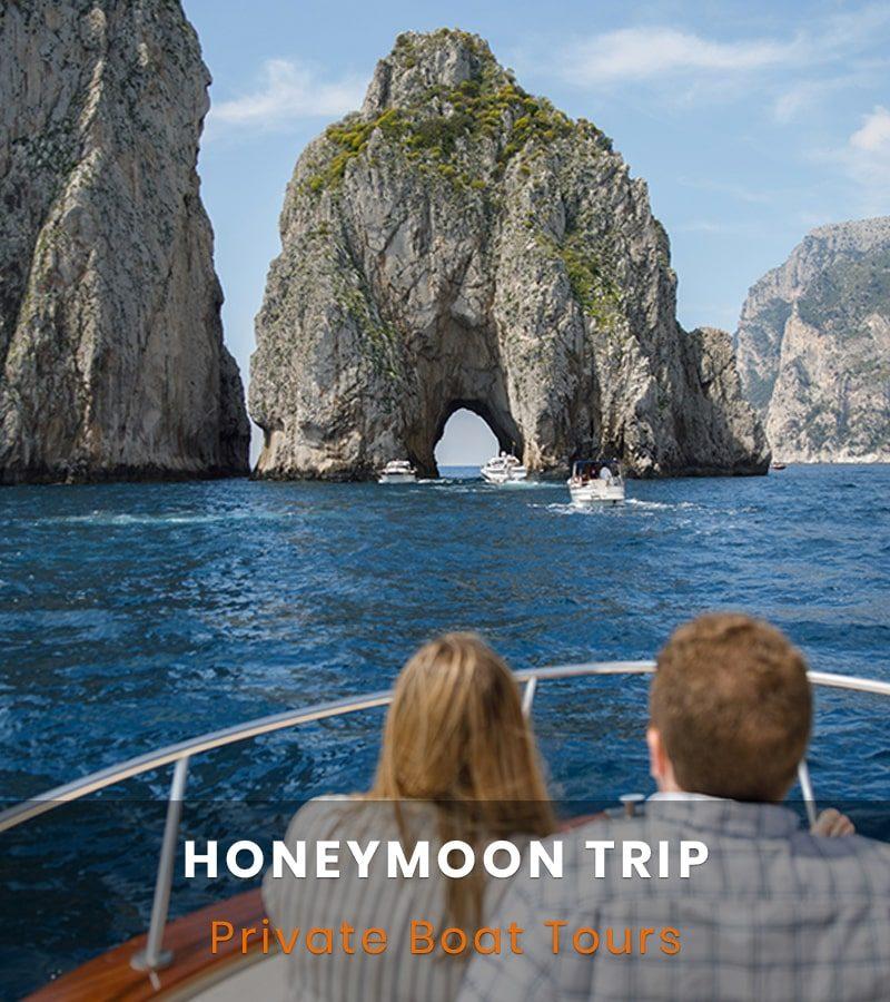 Honeymoon boat trip