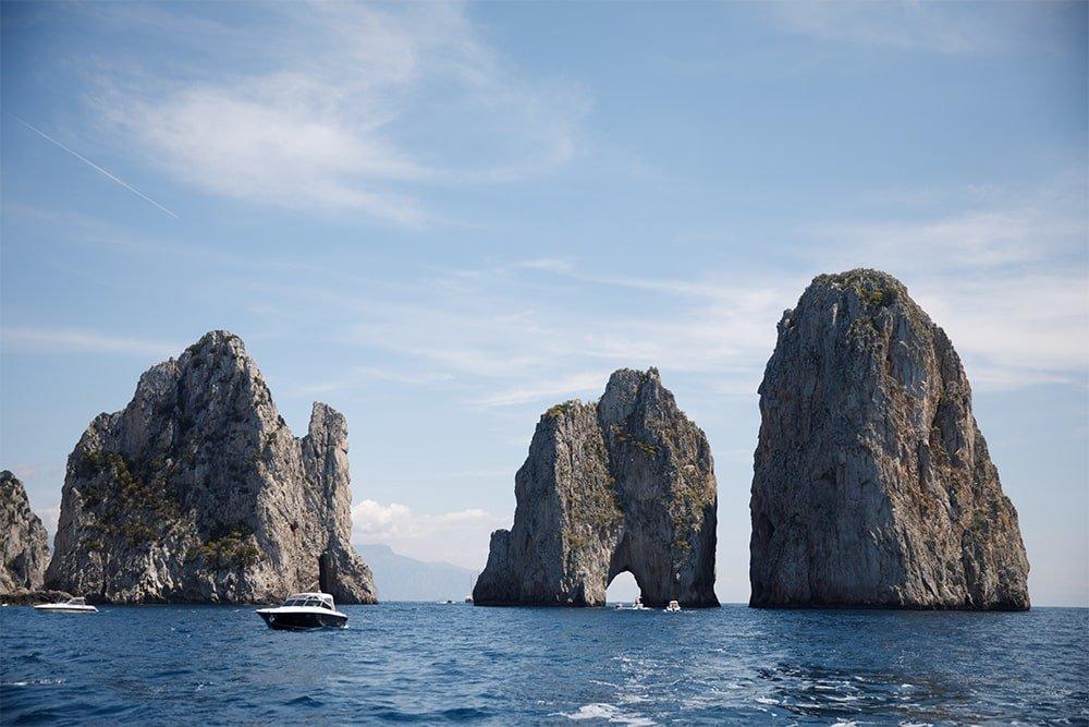 Faraglioni Rocks Capri viewed from sea