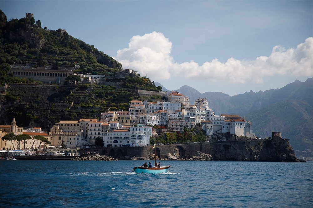 Amalfi Coast see from my boat