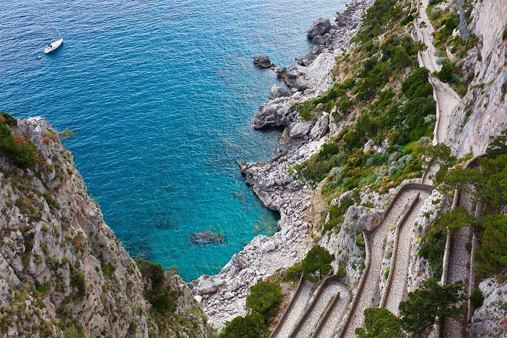 Via Krupp tour in barca da Capri