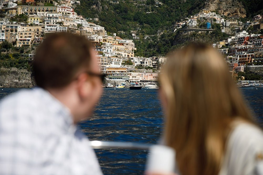 Positano Boat Tour Couple
