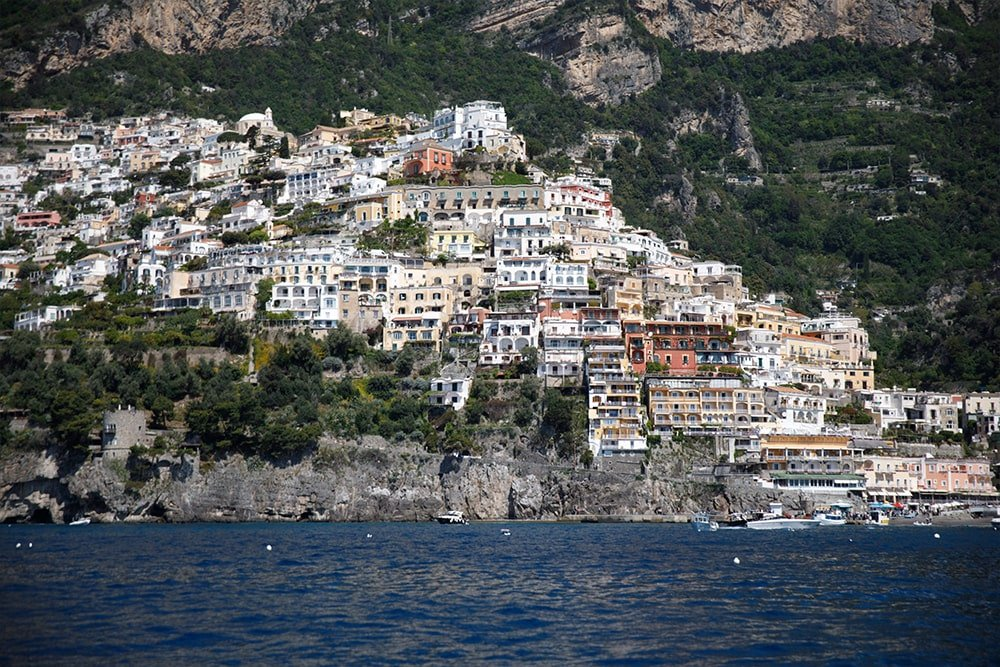Amalfi skyline from sea