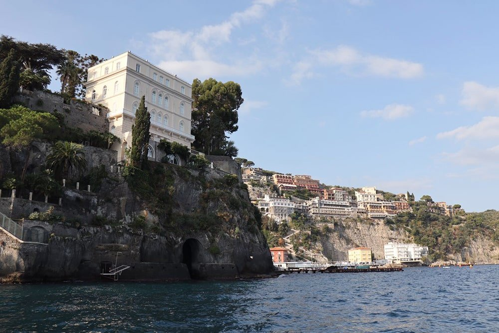 Sorrento viewed from Sea boat tour