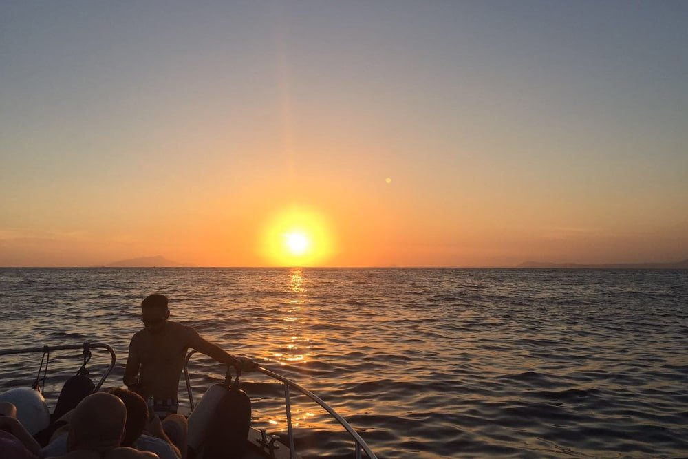 Sea Experience at Sunset in Sorrento bay