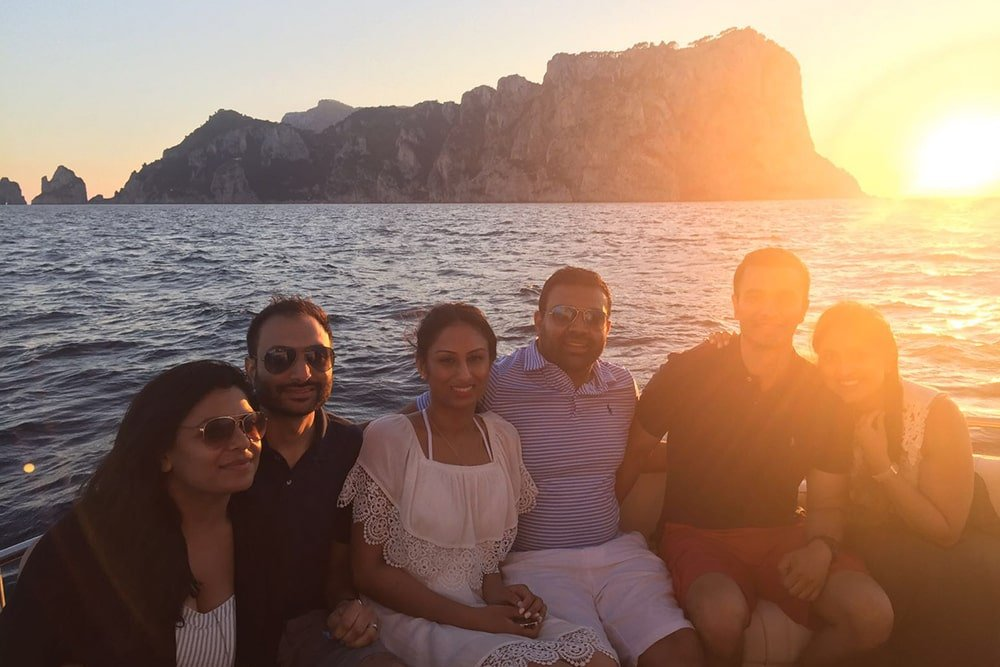 We love sunset experience in Gulf of Naples