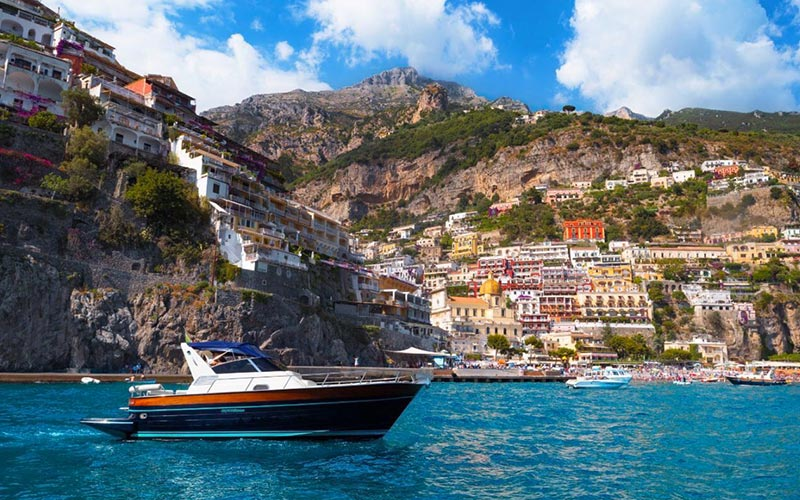 Positano by sea