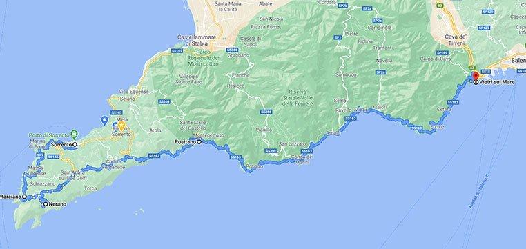Itinerario Sorrento Vietri