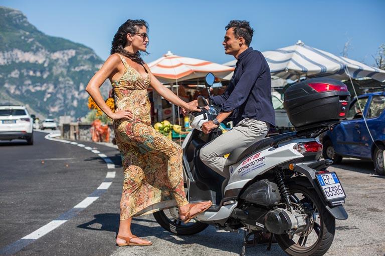 Motorbike in Positano