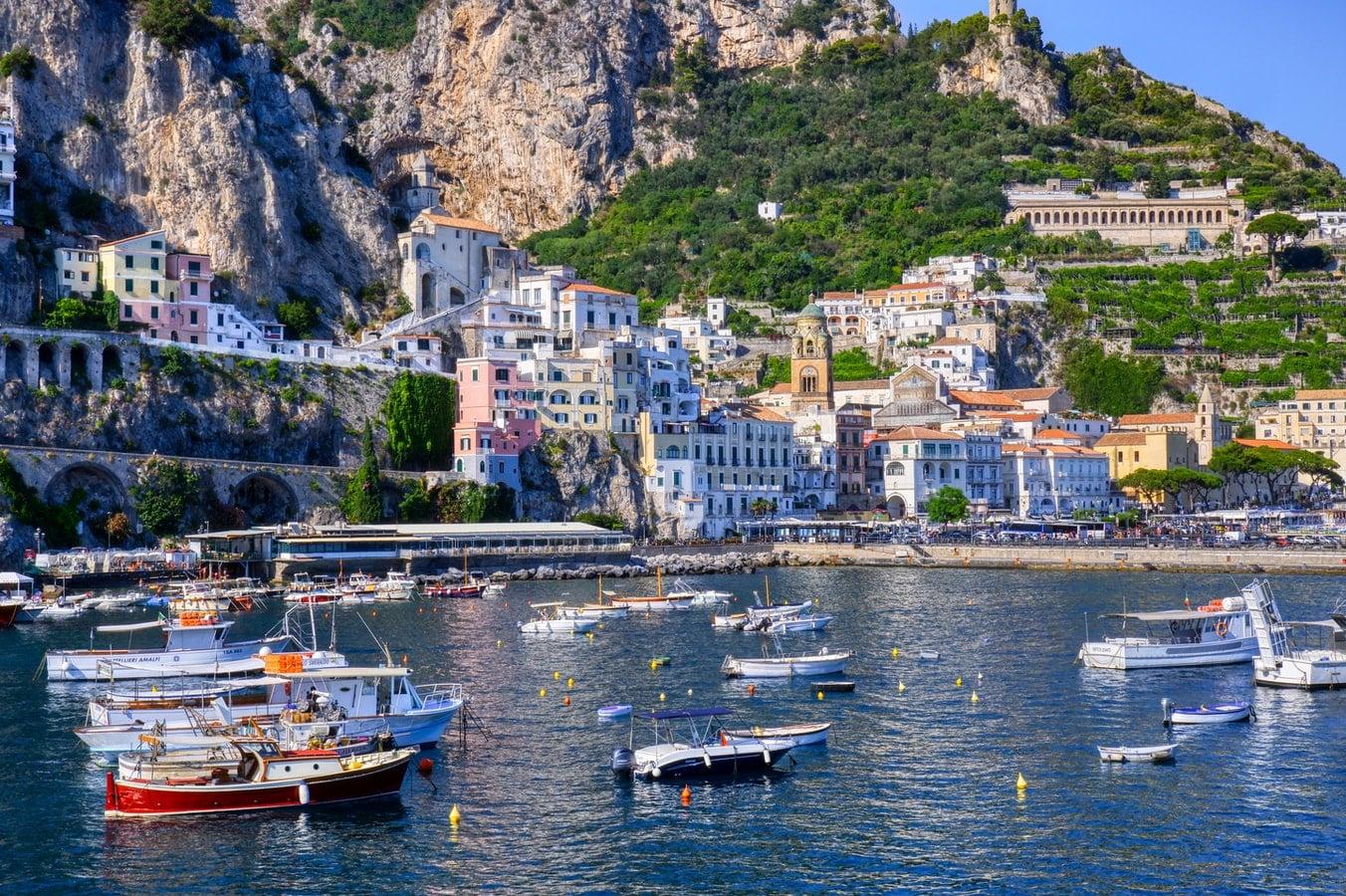 Amalfi veduta da mare