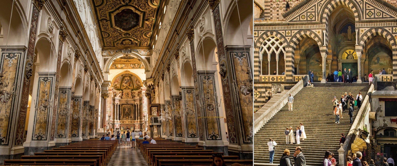 Esterni e interni del Duomo di Amalfi