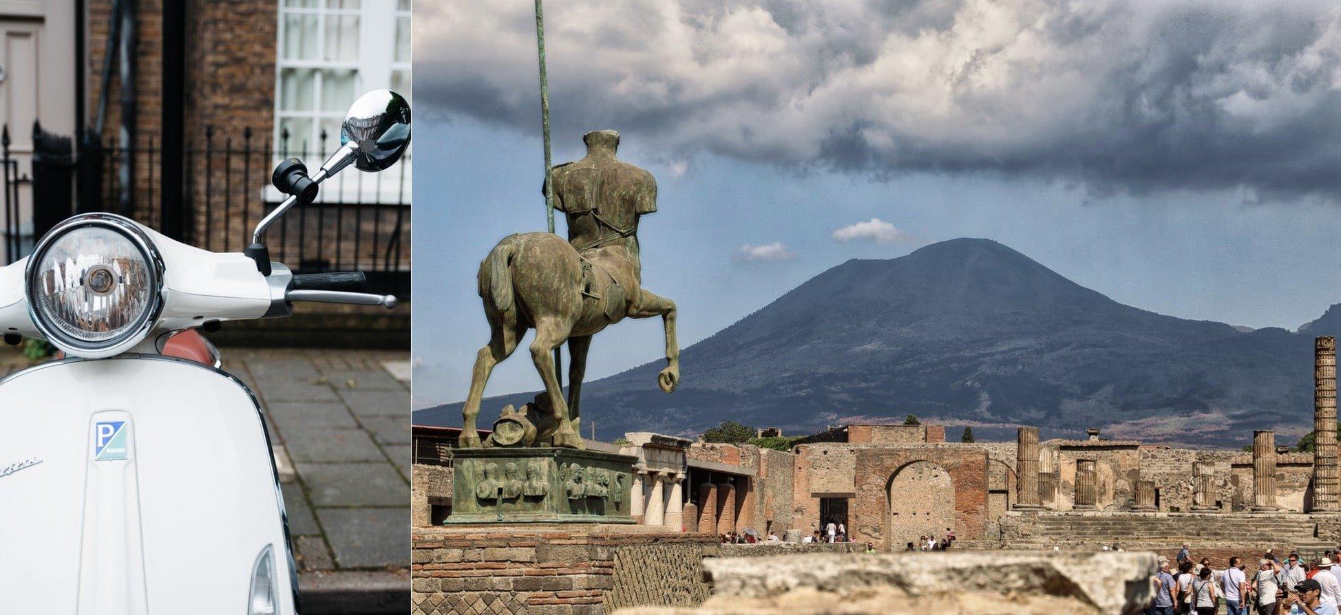 Raggiungi Pompei in Scooter